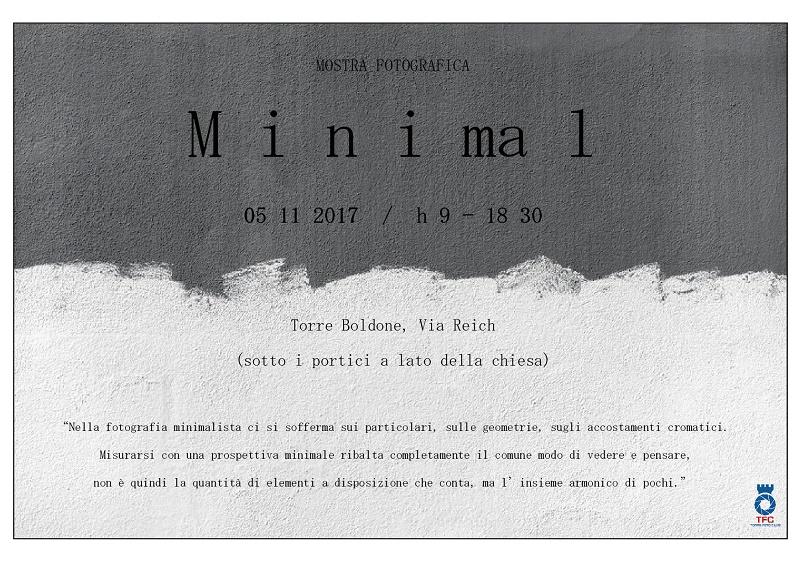 Mostra fotografica: MINIMAL